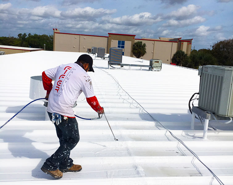 commercial condo roof sealing and painting