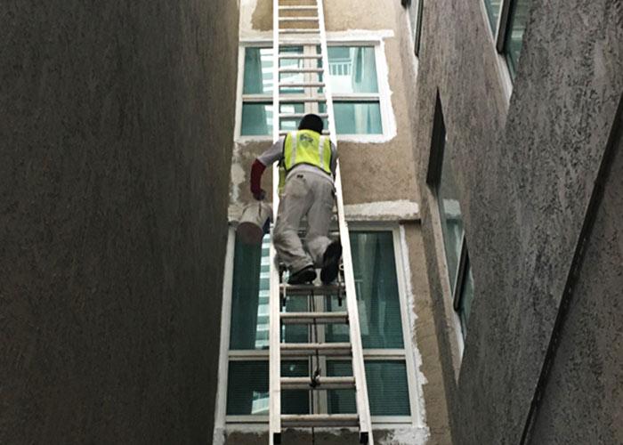painting a multi story condominium